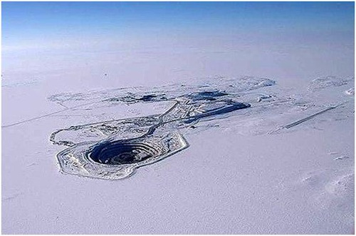 Open Pit Mining Canada From an Open Pit Mine to